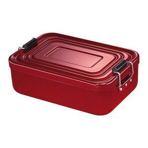 Lunchbox klein rot 18x12x5 cm Aluminium Küchenprofi
