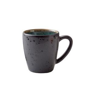 Henkelbecher 0,19 l schwarz/grün Bitz