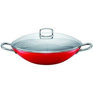 Wok 36cm Energy Red mit Glasdeckel Silit