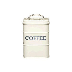 Kaffeedose Stahl creme Kitchen Craft