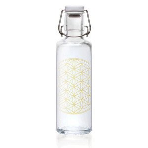 Glasflasche 0,6 ltr Flower of Life Soulbottle