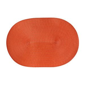 Tischset orange oval 45 cm x 31 cm naturähnliche Kunstfaser Continenta