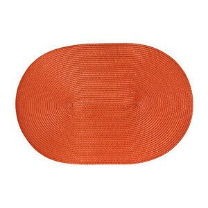 Tischset oval 45x31 cm orange Continenta