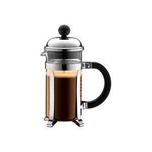 Kaffeebereiter 0,35l 3 Tassen Chambord Chrom Schwarzer Griff Bodum