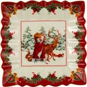 Schale eckig Santa mit Waldtie Toys Fantasy Villeroy & Boch