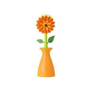 Spülbürste in Vase gelb Vigar