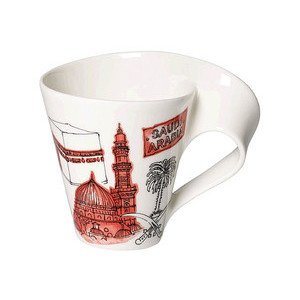 Becher m. Henkel 0,3 l Saudia Cities of the World Mug Villeroy & Boch