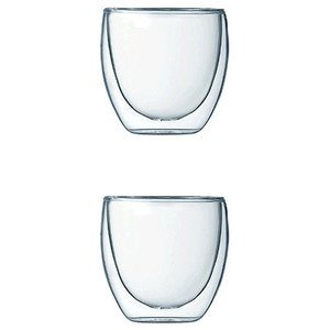 Espresso-Glas Pavina 0,08l doppelwandig 2er Set Bodum