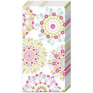 Papiertaschentücher Lilly white pink IHR