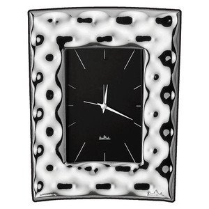Mini-Uhr 4x6cm Silver Collection Move Rosenthal