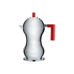 Espressokanne Griff rot 3 Tassen Pulcina Alessi