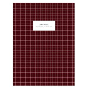 Large Softcover Notebook KARTOTEK // Check Bordeaux Mark's Europe