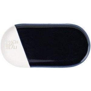 Tablett 22x11x1 cm Mach mal blau Räder
