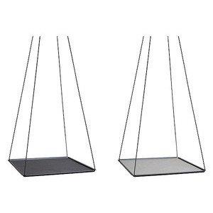 36x36 cm Hängetablett schwarz Pendulum Square L Nupo anthraz./h-grau LINDDNA