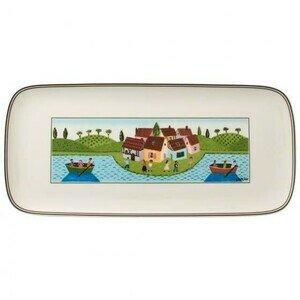 Kuchenplatte 35 cm x 16 cm eckig Charm&Breakfast Design Naif Villeroy & Boch