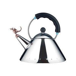 Wasserkessel Tea Rex schwarz Alessi