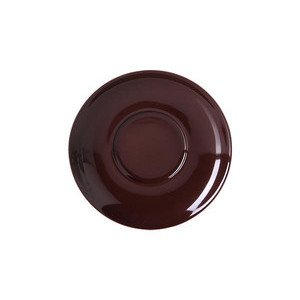 "Cappuccino-Untertasse 300 ml ""Solid Color Kaffeebraun"" rund Dibbern"