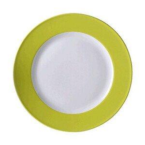 Teller flach 28 cm Fahne Solid Color limone Dibbern