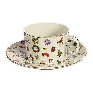 Kombitasse (Kaffee- und Tee-Obere) mit Untertasse Taitü