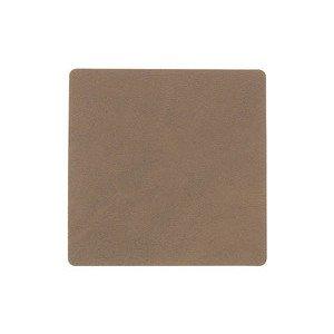 10x10 cm Untersetzer Square brown/Nupo LINDDNA