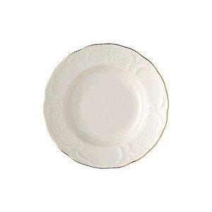 """Suppenteller 23 cm mit Relief """"Sanssouci Elfenbein Gold"""" Rosenthal"""
