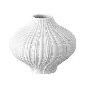 Mini Vase 8 cm Plissee weiss Rosenthal