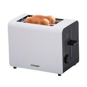 Toaster Aluminium matt -- 2 Scheiben 890 Watt Cloer