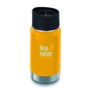 Trinkflasche Wide, mit Café Cap, vakuumisoliert, 355 ml, gelb klean kanteen