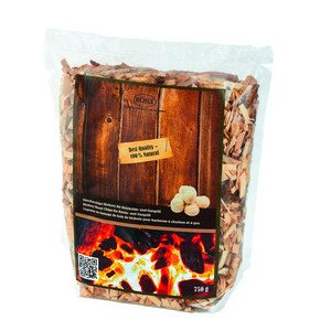 Räucherchips Hickory 750 g für Holzkohle- u. Gasgrill Rösle