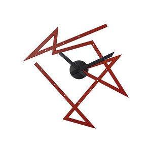 Wanduhr aus Stahl rot Time Maze Alessi