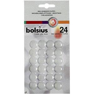 Wachsklebeplättchen Weiss 24er Pack Bolsius