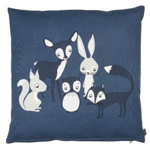 Kissen gefüllt 50x50 cm Best Friends blau Eightmood