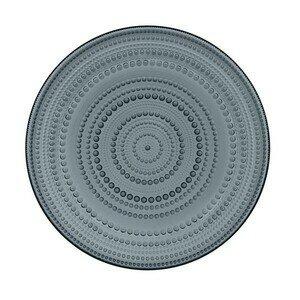 Teller flach 31,5cm Kastehelmi dark grey iittala