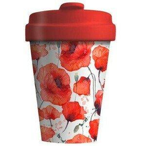 Travel Mug 400ml Poppy Flowers chic mic